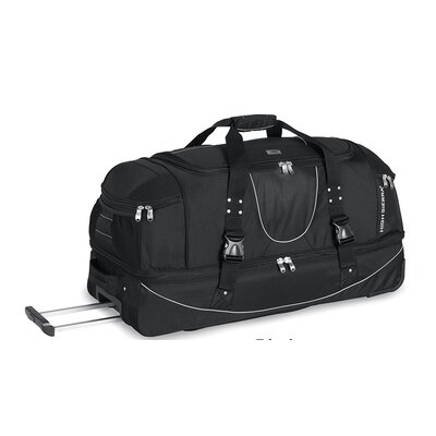"High Sierra A.T Gear Ultimate Access 36"" 2-Wheeled Drop Bottom Travel Duffel with Backpack Straps"