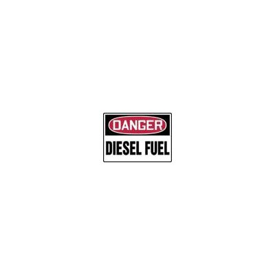 "Accuform Manufacturing Inc X 14"" Red, Black And White Adhesive Vinyl Value™ Chemical Identification Sign Danger Diesel Fuel"