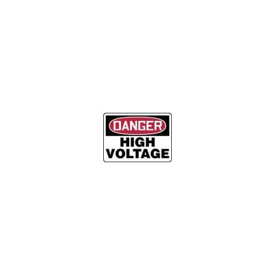 "Accuform Manufacturing Inc X 10"" Red, Black And White Adhesive Vinyl Value™ High Voltage And Hazard Sign Danger High Voltage"