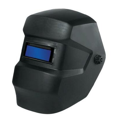 "Ace International Mass. Black Welding Helmet With Singles™ 2"" X 4-1/4"" Shade 10 Fixed Front Auto Darkening Filter"