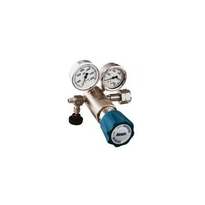 Airgas - 6000 PSI High Delivery Pressure Single Stage Stainless Steel Pressure Regulator With 10000 PSI Maximum Rated Inlet Pressure, CGA-677