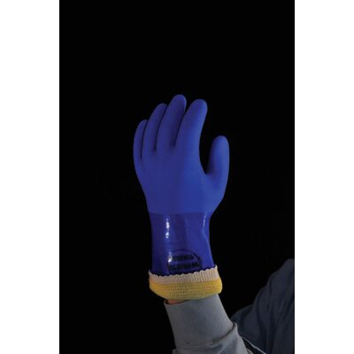 Best Manufacturing Co 9 Blue Kevlar® Showa Atlas Yellow PVC Coated Gloves With Rough Finish