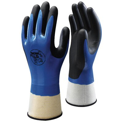 Best Manufacturing Co Size 9 Black And Blue Nitrile 377 ATLAS® Coated Work Gloves With Nitrile Palm Coating