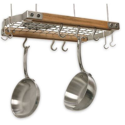 Mini Gray Oval Ceiling Hanging Pot Rack