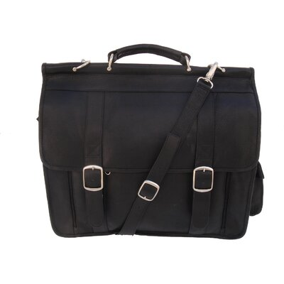 Piel Leather European Laptop Briefcase