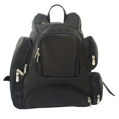 Piel Leather Multi-Pocket Backpack