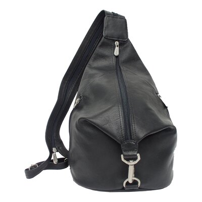 Fashion Avenue Three-Zip Hobo Sling Backpack
