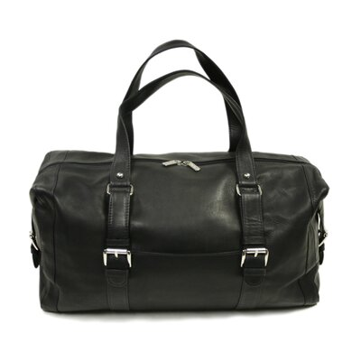 "Piel Leather Traveler 19"" Leather Travel Duffel with Buckles"