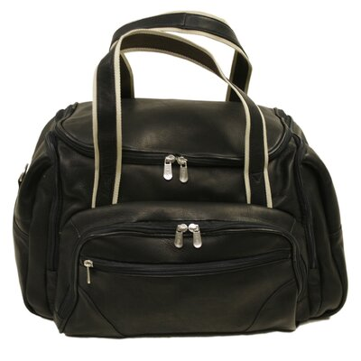 "Piel Leather 20"" Three Pocket Duffel"