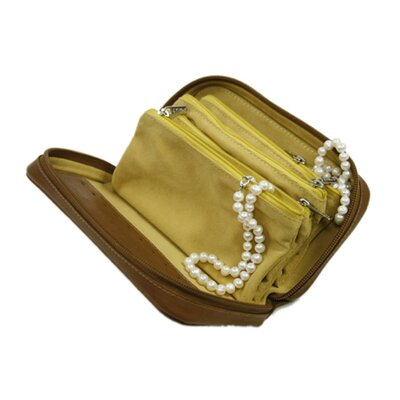 Piel Leather Jewelry Case in Saddle