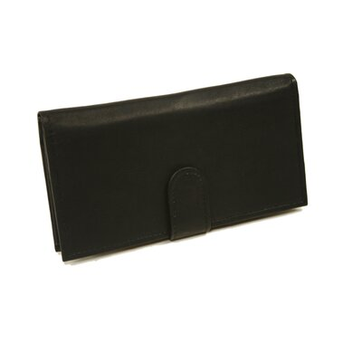 Piel Leather Small Leather Goods Multi-Card Wallet in Black