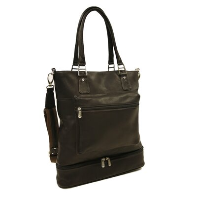 Fashion Avenue False Bottom Tote in Chocolate