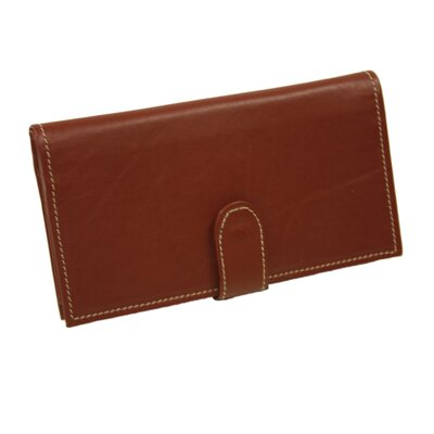 Piel Leather Small Leather Goods Multi-Card Wallet in Red
