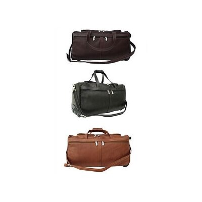 "Piel Leather Traveler 21.5"" Leather 2-Wheeled Travel Duffel"