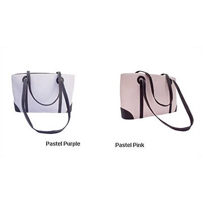 Piel Leather Pastel Collection Shopping Tote