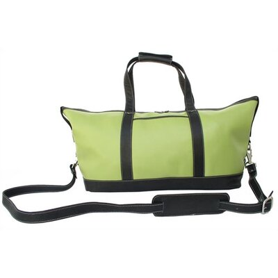 Piel Leather Apple Green Leather Collection Deluxe Carry-On Satchel in Apple Green