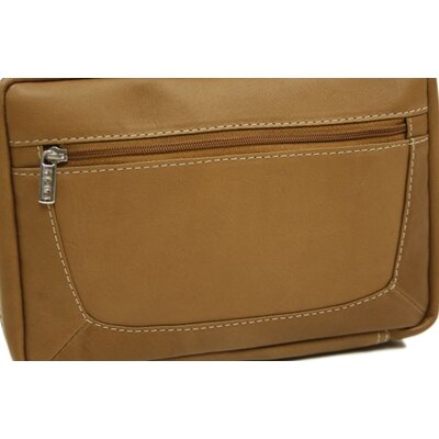 Piel Leather Ladies Travel Wallet in Saddle