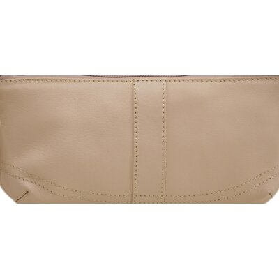 Piel Leather Ladies Large Wristlet in Pastel Pink