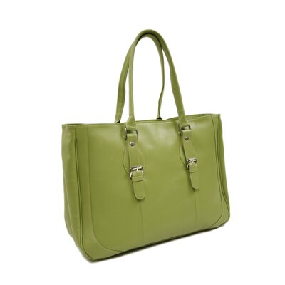 Piel Leather Fashion Avenue Shoulder Buckle Tote in Apple