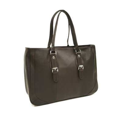Fashion Avenue Shoulder Buckle Tote in Chocolate