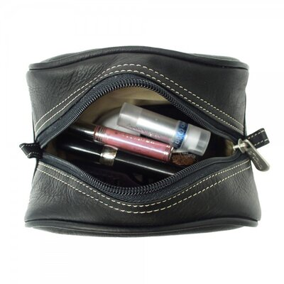Piel Leather Pastel Collection Cosmetic Bag