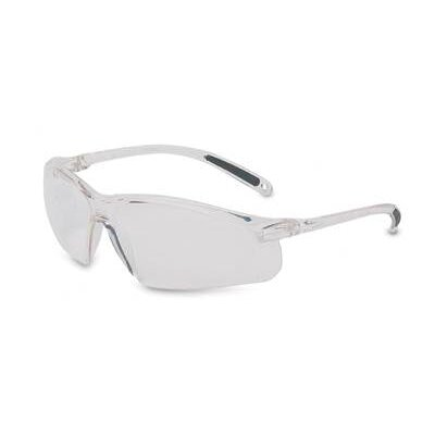 A700 Series Sporty Wraparound Safety Glasses With Clear Frame And Clear Hardcoat Lens
