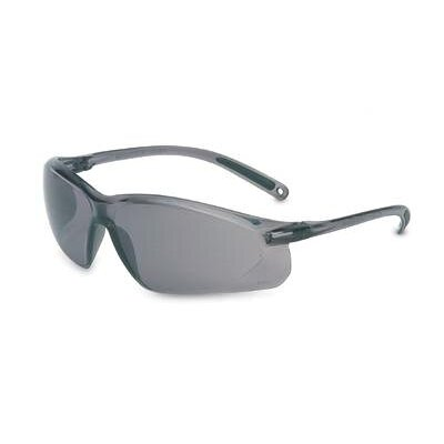 A700 Series Sporty Wraparound Safety Glasses With Gray Frame And TSR® Gray Hardcoat Lens