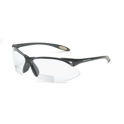 A900 Series Reader Magnifier Safety Glasses With Black Frame And Clear 1.5 Diopeter ...