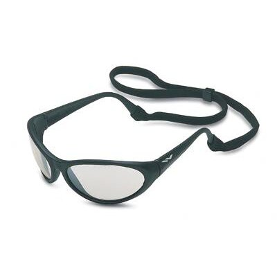 Prevail® Safety Glasses With I/O Silver Mirror Lens And Black Frame