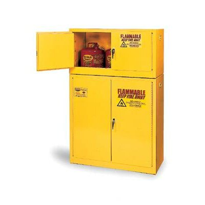 Eagle Manufacturing Company Gallon Yellow Two Shelf With Two Door Self-Closing Flammable Safety Storage Cabinet