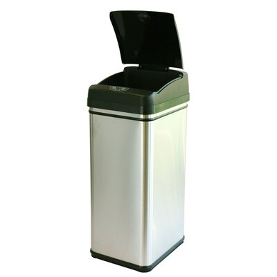 iTouchless 13-Gal. Stainless Steel Touchless Trashcan