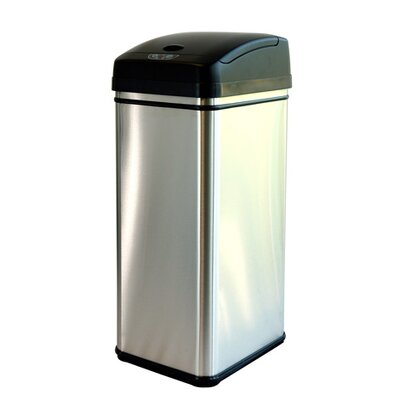 13-Gal. Deodorizer Stainless Steel Automatic Touchless Trash Can
