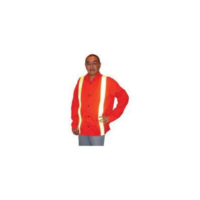 "John Tillman & Co 30"" Hi-Viz Orange 9 Ounce Westex® Proban® FR7A® Cotton Flame Retardant Jacket With Snap Front Closure And Flame Retardant Reflective Stripes"