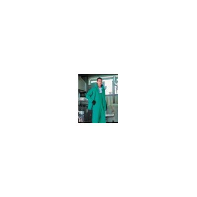 "LaCrosse-Rainfair Safety Products Green 30"" Chem Tech™ I 0.45 mm Polyester Flame Resistant Chemical Protection Jacket With Double Heat Welded Seams, Detachable Hood, X-Large Tapered Collar, Raglan Sleeves And Underarm Reinforcement"