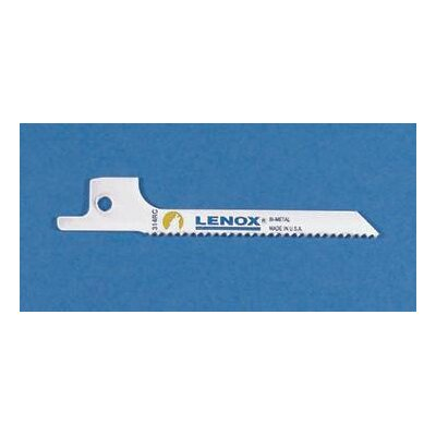 "Lenox White Tools 3"" X 1/4"" X .032"" Lenox® Bi-Metal Reciprocating Saw Blade With 14 Teeth Per Inch"