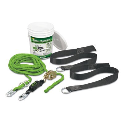 Miller Fall Protection Person 60' TechLine Temporary Horizontal Lifeline System Kit