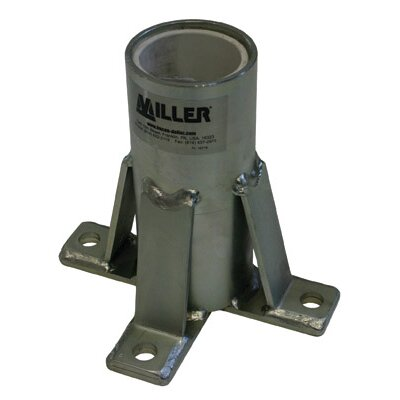 Miller Fall Protection Confined Space Zinc Plated Mild Steel Floor Mount Sleeve