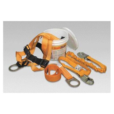 Miller Fall Protection Force Gold And Black Titan™ T4000 Full Body Harness Kit With 6' Lanyard