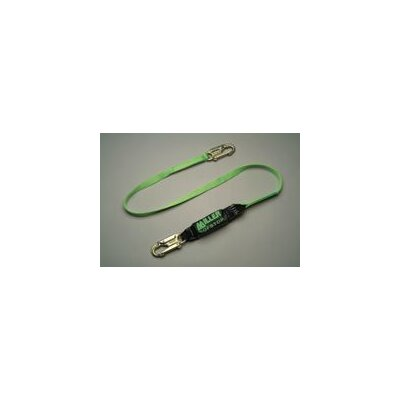 Miller Fall Protection Nylon Web Lanyard With 2 Locking Snap Hooks