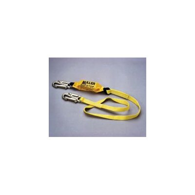 Miller Fall Protection Web Lanyard With 2 Locking Snap Hooks & An Integral Sofstop™ Shock Absorber