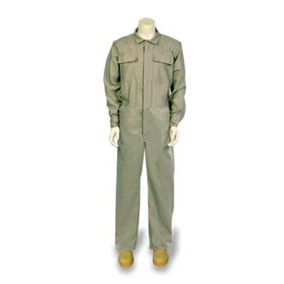 "National Safety Apparel Inc 32"" Khaki 6 40180 Ounce DuPont™ Protera® Flame Resistant Standard Coveralls With Front Zipper Closure"
