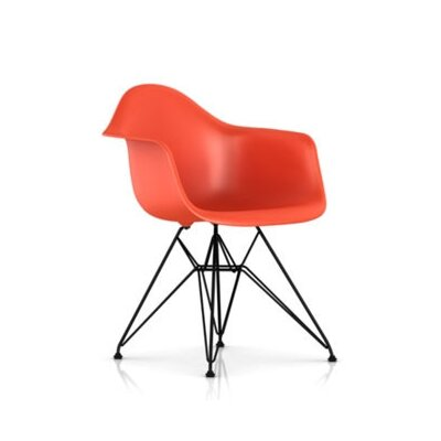 Eames DAR - Molded Plastic Arm Chair with Wire Base