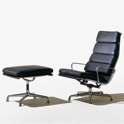 Eames Soft Pad Group Chair and Ottoman
