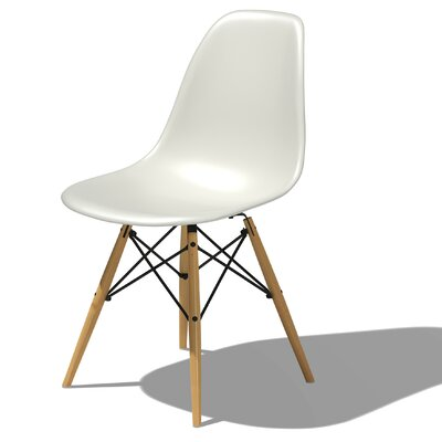 eames dsw molded plastic side chair with dowel leg base wayfair. Black Bedroom Furniture Sets. Home Design Ideas