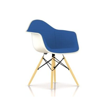 Herman Miller ® Eames Molded Fiberglass Upholstered Arm Chair with Dowel Base