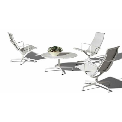 "Herman Miller ® Eames 30"" Aluminum  Outdoor Dining Set with Universal Base and Lounge Chairs"