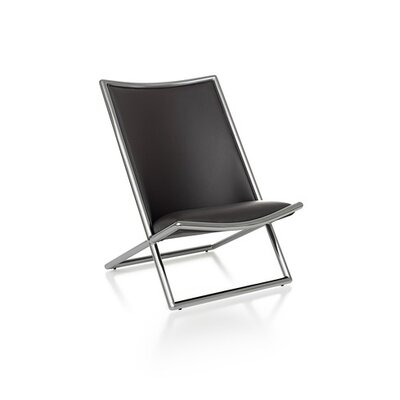 Geiger Leather Scissor Chair