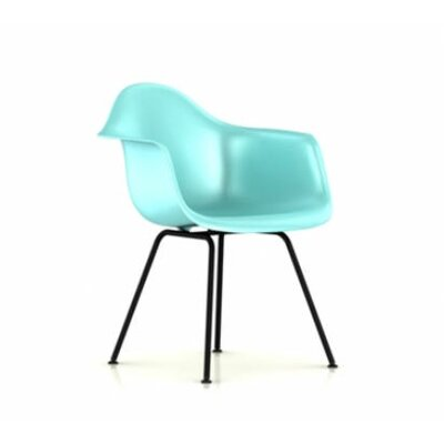 Eames DAX - Molded Plastic Arm Chair with 4 Leg Base