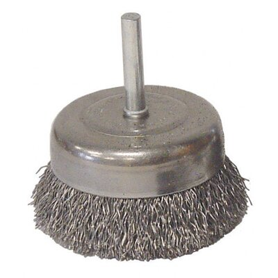 "Radnor 1/2"" Fine Wire Utility Cup Brush With 1/4"" Stem"