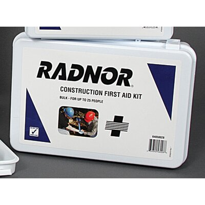 Radnor Person Bulk Construction First Aid Kit In Plastic Case